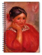 Gabrielle In A Red Blouse 1896 Spiral Notebook