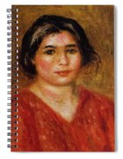 Gabrielle In A Red Blouse 1913 Spiral Notebook