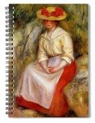 Gabrielle In A Straw Hat 1900 Spiral Notebook