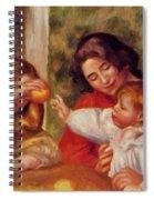 Gabrielle Jean And A Little Girl Spiral Notebook