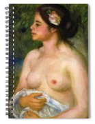 Gabrielle With A Rose The Sicilian Woman Spiral Notebook