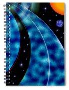 Galactic Autobahn Spiral Notebook