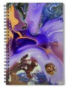 Galactic Portal. Abstract Fluid Acrylic Pour Spiral Notebook