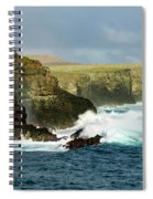 Cliffs At Suarez Point, Espanola Island Of The Galapagos Islands Spiral Notebook