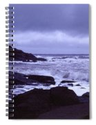 Gale Winds At Nubble Light Spiral Notebook