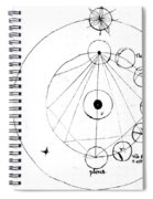 Galen, Phases Of The Moon, Diagram Spiral Notebook