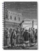 Galileo Demonstrates Telescope, 1609 Spiral Notebook