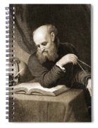 Galileo With Compass And Diagrams Spiral Notebook
