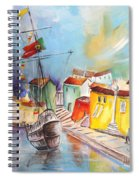 Gallion In Vila Do Conde Spiral Notebook