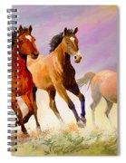 Galloping Horses Spiral Notebook