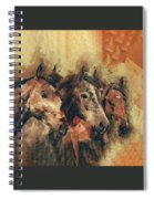 Galloping Wild Mustang Horses Spiral Notebook
