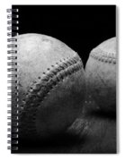 Game Used Baseballs In Black And White Spiral Notebook