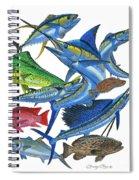 Gamefish Collage Spiral Notebook