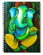 Ganesh In Garden Spiral Notebook