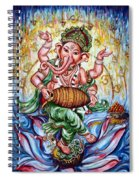 Ganesha Dancing And Playing Mridang Spiral Notebook