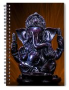 Ganesha With Fire Background Spiral Notebook