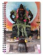 Ganesha With Pink Flowers, Valparai Spiral Notebook