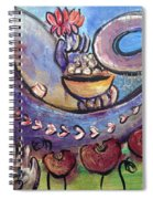 Ganesha With Poppies Spiral Notebook