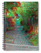 Garden Alley - Use Red-cyan 3d Glasses Spiral Notebook