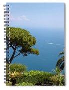 Garden And Bay Of Naples Spiral Notebook