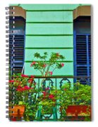 Garden Balcony Spiral Notebook