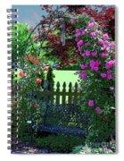 Garden Bench And Trellis Spiral Notebook