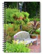 Garden Benches 5 Spiral Notebook