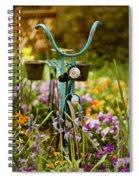 Garden Bicycle Spiral Notebook