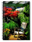 Garden Chair Spiral Notebook