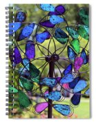 Garden Colored Fan Spiral Notebook