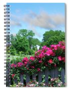 Garden Fence And Roses Spiral Notebook