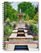 Garden Fountain Spiral Notebook