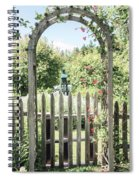 Garden Gate Spiral Notebook