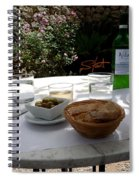 Garden Lunch Mallorca Spiral Notebook