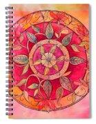 Garden Mandala Spiral Notebook