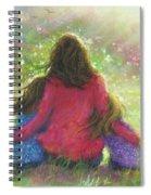 Garden Mother Little Sis Blonde Spiral Notebook