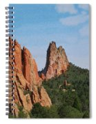 Garden Of The Gods Colorado De  Spiral Notebook