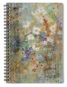 Garden Of White Flowers Spiral Notebook
