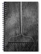 Garden Rake Down Spiral Notebook