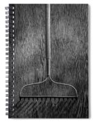 Garden Rake Down Spiral Notebook