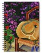 Garden Scene Spiral Notebook