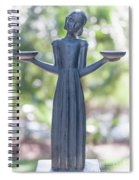 Garden Statue Dreams Spiral Notebook
