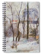 Garden Under Snow Spiral Notebook