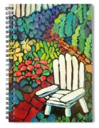 Garden With Lamp By Peggy Johnson Spiral Notebook