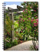 Garden With Roses Spiral Notebook