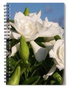 Gardenia Flowers Spiral Notebook