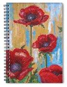 Gardens Poppy Spiral Notebook