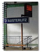Gare D'austerlitz In Paris, France Spiral Notebook