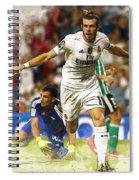Gareth Bale Celebrates His Goal  Spiral Notebook