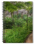 Garfield Park Conservatory Pond And Path Chicago Spiral Notebook